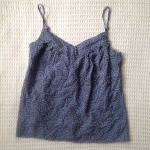NWT J. Crew factory chambray embroidered tank L